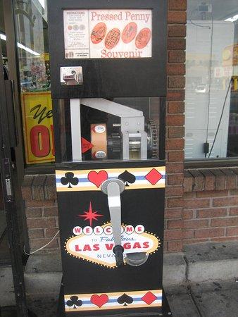 penny press machines in las vegas