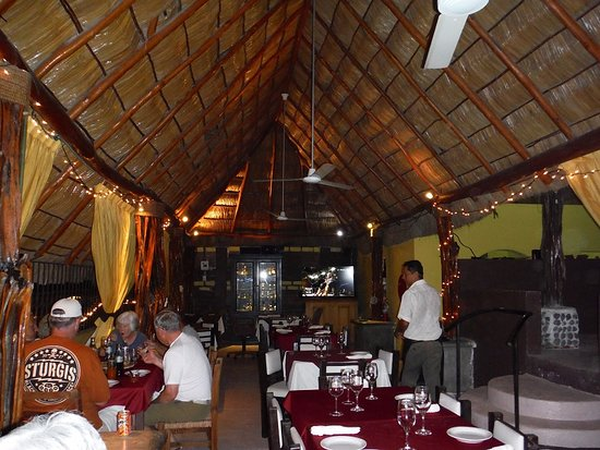 La Braza Restaurant: Inside With Palapa Roof