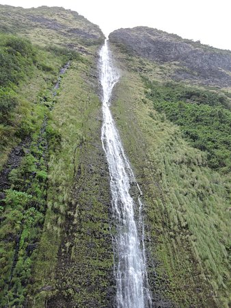 Waikoloa, HI: 800 feet up and I couldn't get the whole waterfall in my view finder