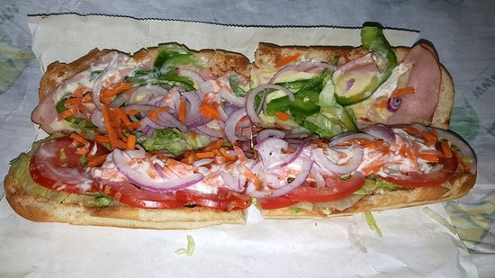 Kelso, WA: Toasted Ham and salad footlong