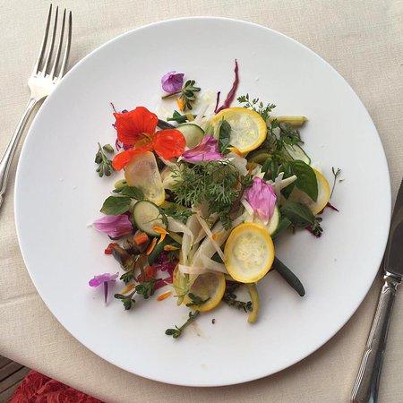 Auberge du Bois Prin: Mon assiette vegan , avec les légumes du potager.