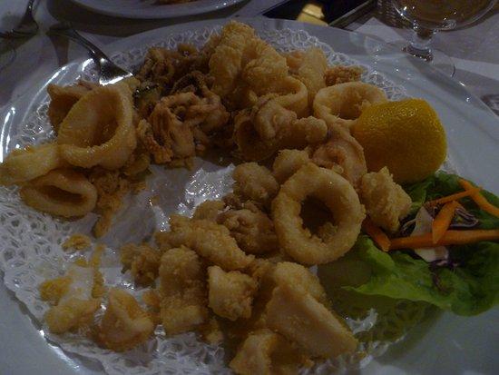 Vecchia Fattoria: succulent deep-fried squid/octopus