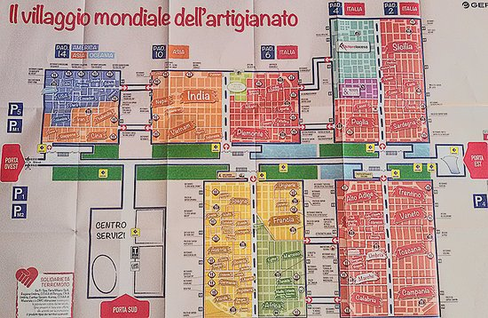 Mappa fiera dell 39 artigianato 2016 foto di artigiano in for Fiera artigianato milano 2017