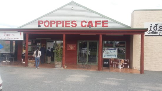 Entrance to Poppies Cafe, Twizel