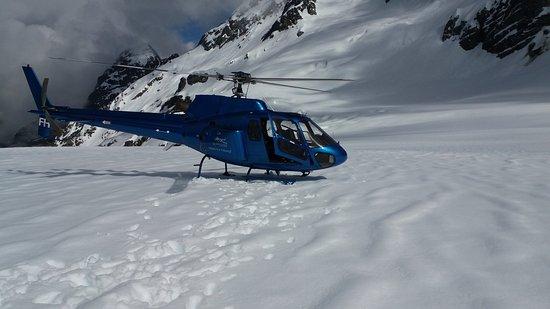Franz Josef, Nueva Zelanda: snowfield landing.