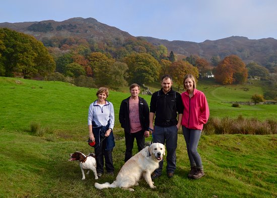 Ambleside, UK: near start of walk with Loughrigg behind us
