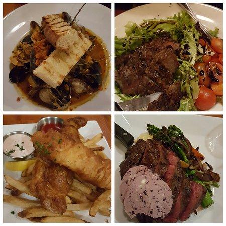 Cask and Schooner Public House & Restaurant: Briolle,steak salad,fish n chips, flat iron steak