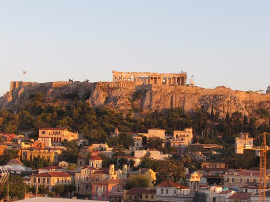 AthenStyle Hostel: Rooftop bar view
