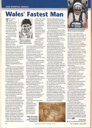 article written by eddie knipe in best of british magazine about tom