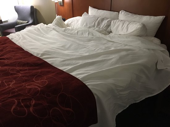 Antioch, TN: This is how they made our bed.