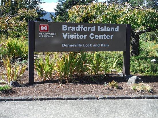 Cascade Locks, OR: Welcome to Bradford Island.
