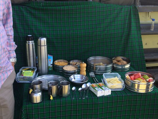 Sayari Camp, Asilia Africa: Breakfast in the safari, during the morning game drive