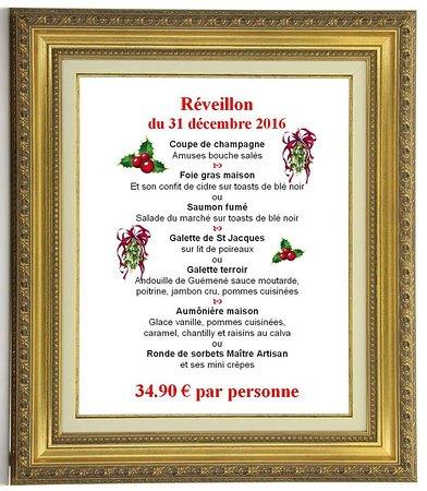 Pluvigner, France: Menu Saint Sylvestre 2016