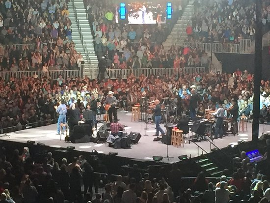 George Strait Concert Picture of T Mobile Arena Las Vegas