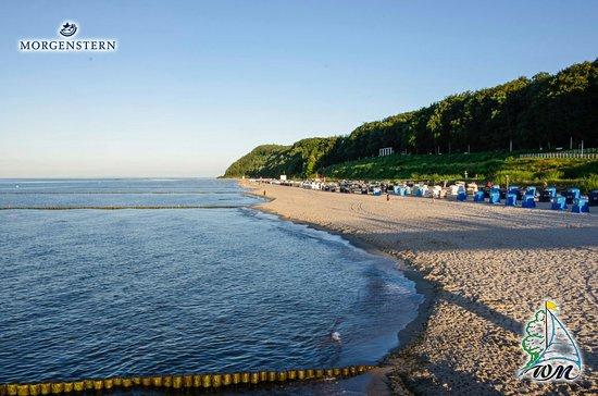 Hotel & Restaurant 'Wald und Meer': der Strand vor dem Hotel