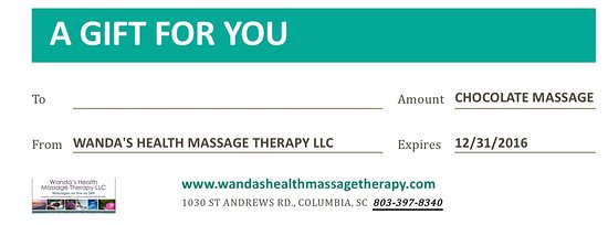 Wanda's Health Massage Therapy: Gift certificates for all services