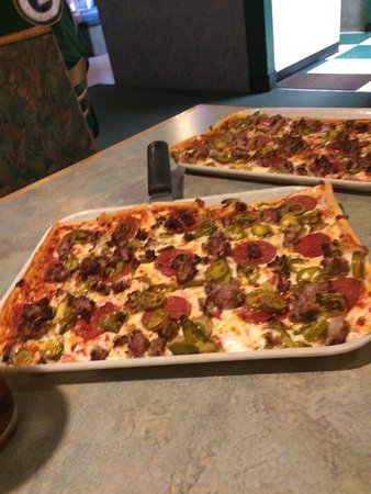Ledo Pizza: Meat lovers pizza with jalapeños
