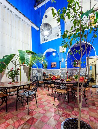 Riad amskal marrakech marocko omd men och for Salle a manger el patio conforama