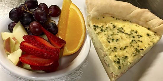 Pendleton, OR: House made quiche made daily w/choice of fruit or salad
