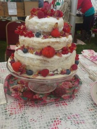 Dronfield, UK: Our strawberry naked wedding cake/  To order