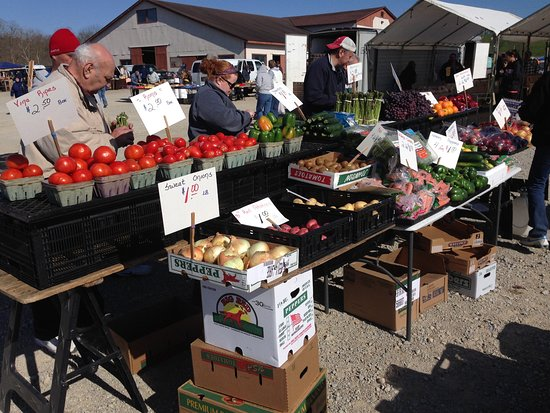 Brookville, IN: A variety of farm Fresh fruits and vegetables to choose from.