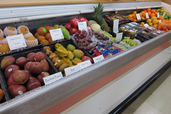 Petoskey, MI: Full Produce Section offering Local Produce in Season.