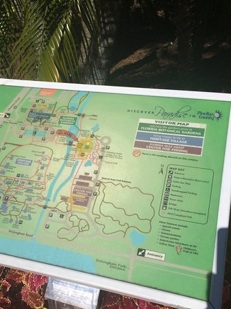 Layout of gardens and historical village Picture of Florida