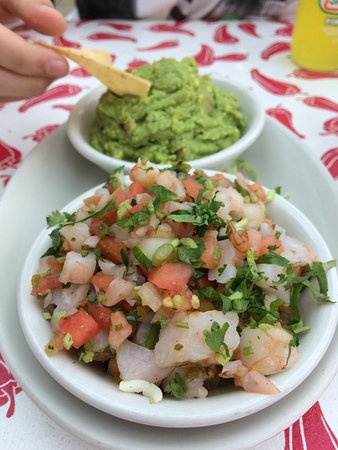 Pewaukee, WI: Best Guac in town, and Shrimp ceviche (not an app had to ask)