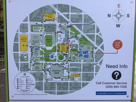 Seattle Center map Foto van Seattle Center Seattle TripAdvisor