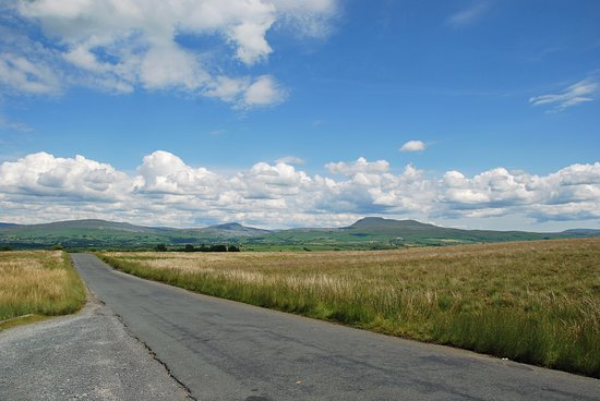 North Yorkshire, UK: The Road past the Great stone