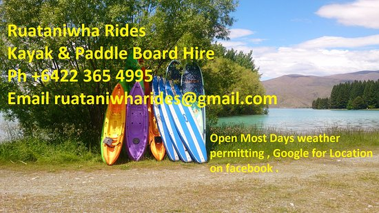 Twizel, Nueva Zelanda: ideas for Dl cards Ruataniwha Rides