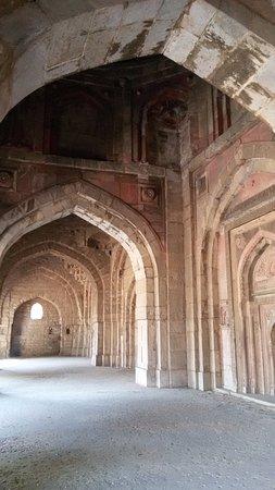 Mehrauli Archaeological Park: interno cupola Jamali Kamali moschea