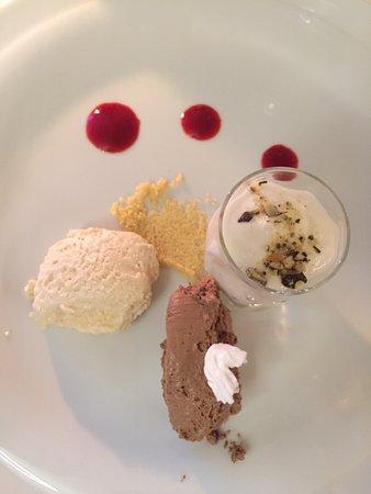 Aigen-Schlagl, Österreich: Dessert: zweierlei vom Schokomouse