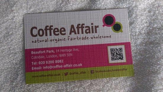 Coffee Affair: Business card
