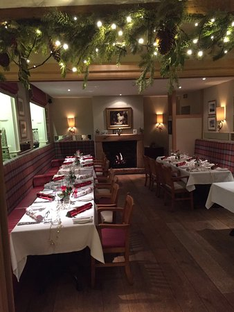 The Bell at Ramsbury: Festive dining room
