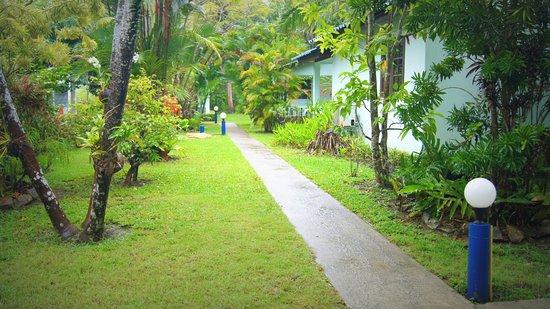 Sabai Resort: Vista dal terrazzino del bungalow