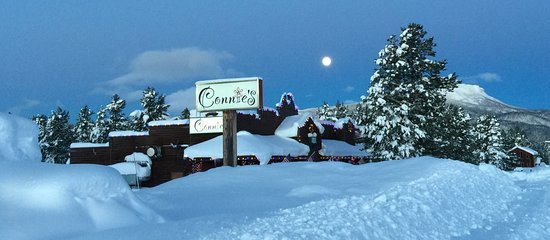 Island Park, ID: Cold Winter morning @ Connie's.