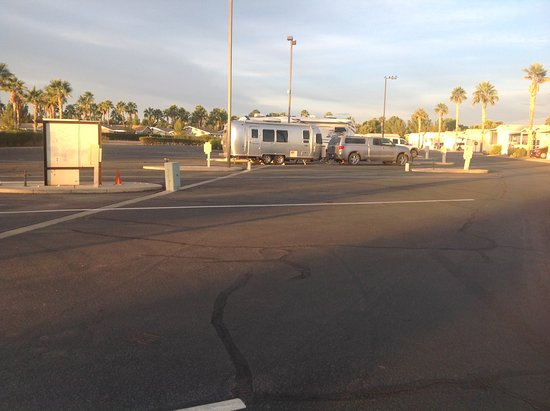 Palm Creek Golf & RV Resort: Walmart lotish with electric, water and sewer.