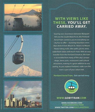Tram flier inside Picture of Portland Aerial Tram Portland