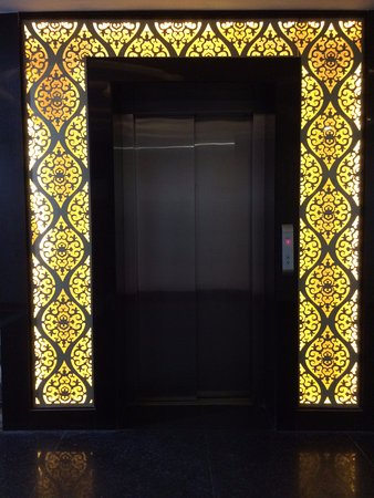Hotel Crimson Palace: Door of the Lift at 1st floor. & A LCD small refrigerator a cupboard in Room#106 - Picture of ... Pezcame.Com