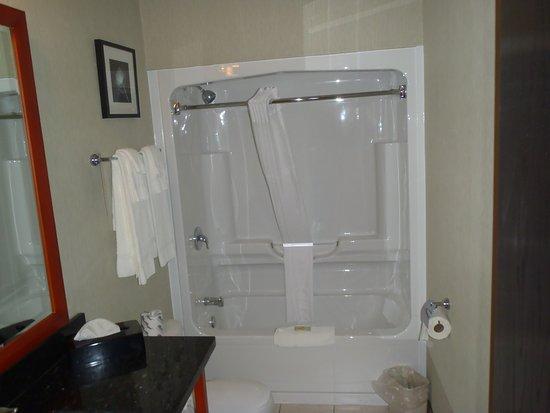 Southampton, Canadá: modern shower/tub
