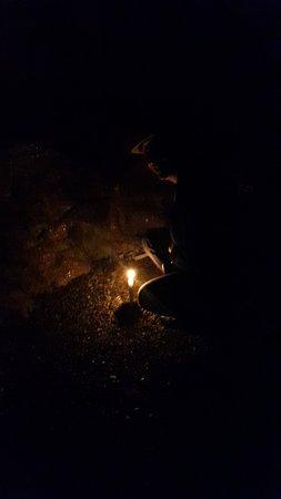Oughterard, Irland: Bougie dans la grotte