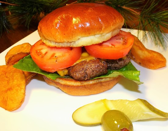 Our Lodi Meat Market Fresh Ground Cheese Burger