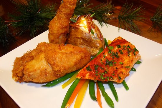 Lodi, WI: Baked Atlantic Haddock and All American Fried Chicken Combo Special offered Sunday Nights