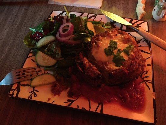 The Wild Fern: Delicious Eggplant Parmesan dinner tonight. Rick Redington playing guitar tunes and good friends