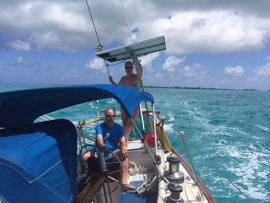 White Wing Sailing: Don and I enjoying the ride!