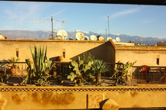 Riad Taroudant : View of the mountains from the roof terrace where we had our breakfast in the mornings.