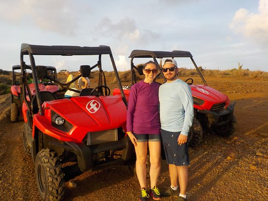 Club Arias B&B: Out on Arias' UTV tour. Watching the sunrise in the national park