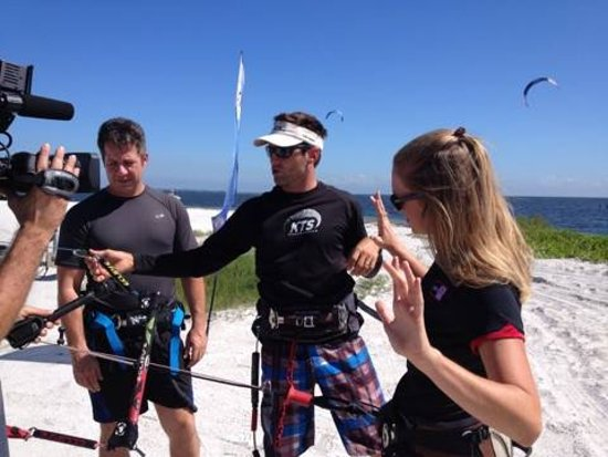Kiss The Sky Kiteboarding and the ABC Action News Team achors