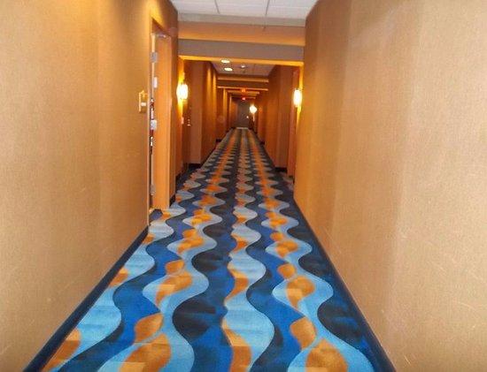 Warroad, MN: Seven Clans - bright clean hallway